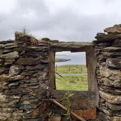 I fell in love with this particular ruined croft house.